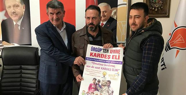 Ürgüp AK Gençlik´ten Afrin´e kardeş eli kampanyası