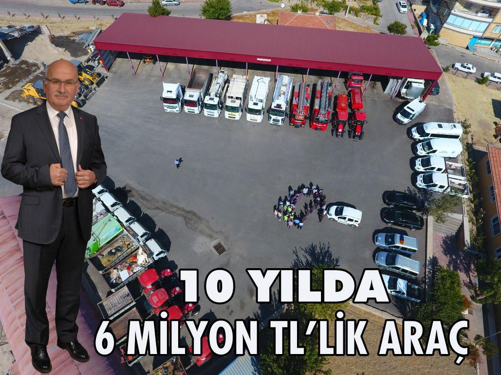 Ürgüp Belediyesine 10 Yılda 6 Milyonluk Araç